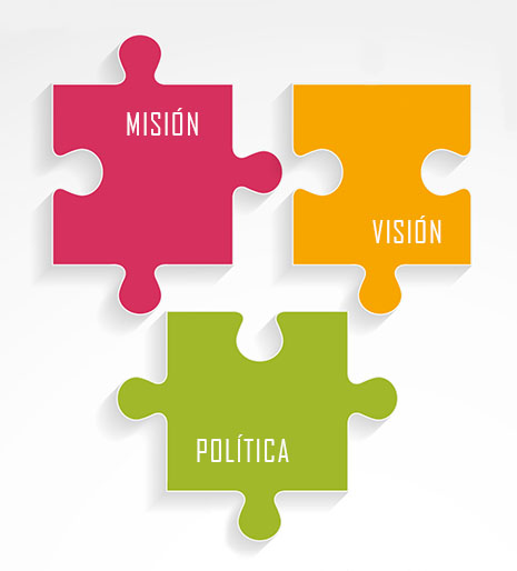 Visión, misión y política